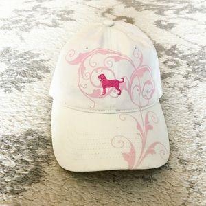 White & pink The Black Dog Martha's Vineyard hat
